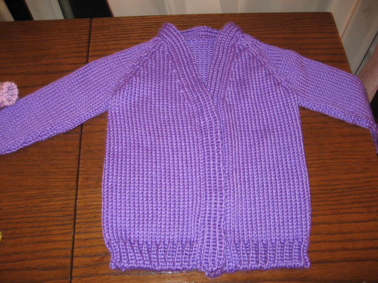 Diana natters on... about machine knitting: Baby Sweater ...