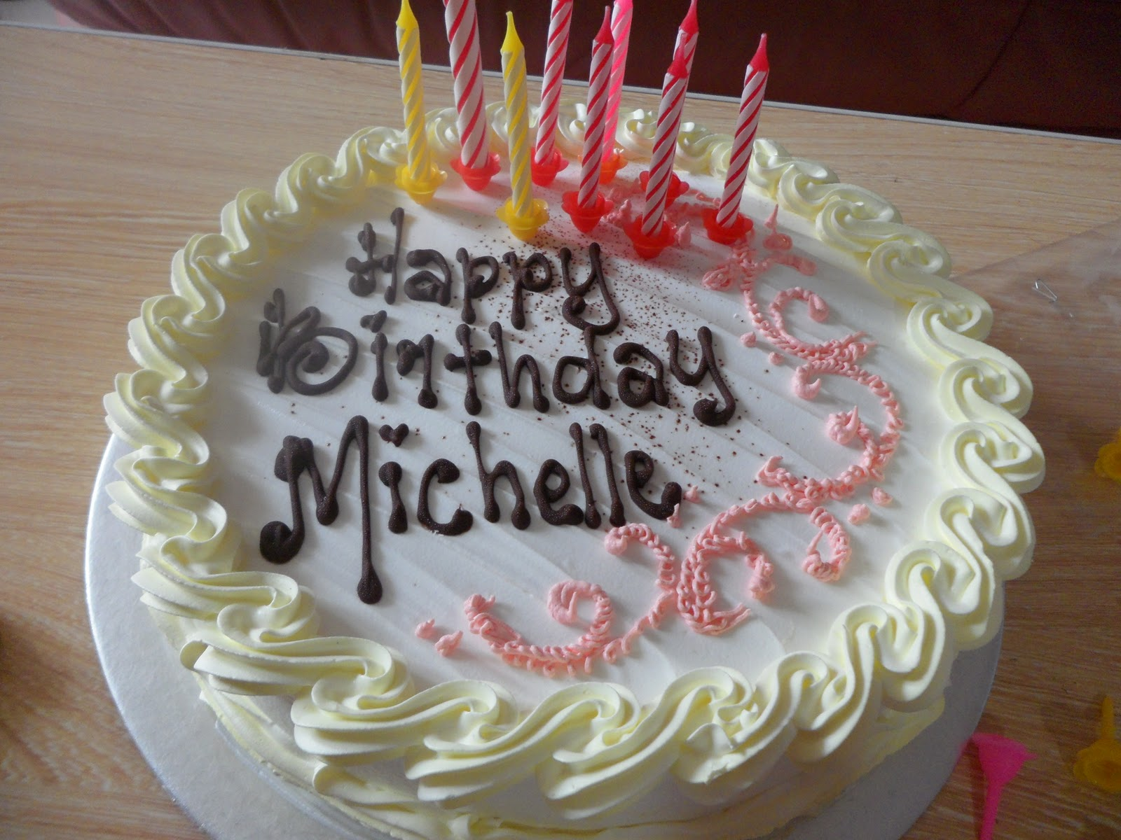 Image Gallery happy birthday michelle cake