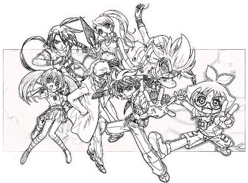 coloring pages for everyone bakugan battle brawlers