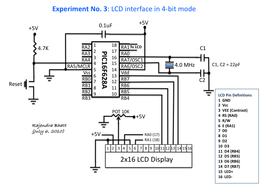 experiment no  3  lcd interface in 4