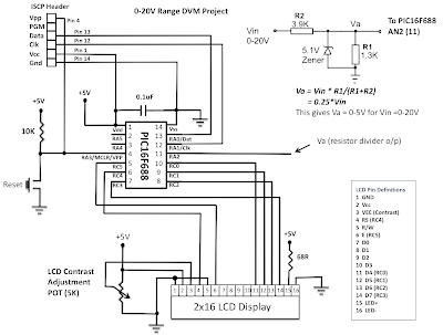 PIC16F688 based Digital Voltmeter