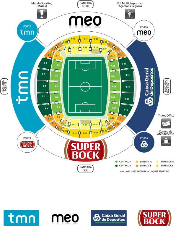 estadio jose alvalade mapa ○ Sporting na Alma ○: Sporting 2014/15 estadio jose alvalade mapa