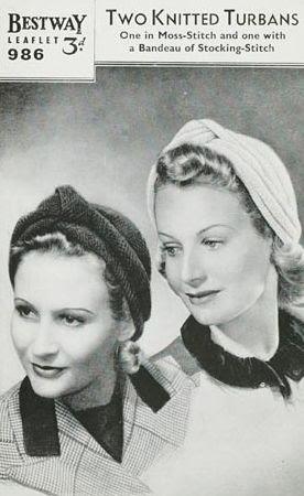 Glamoursplash: Two 40's Turbans to Knit