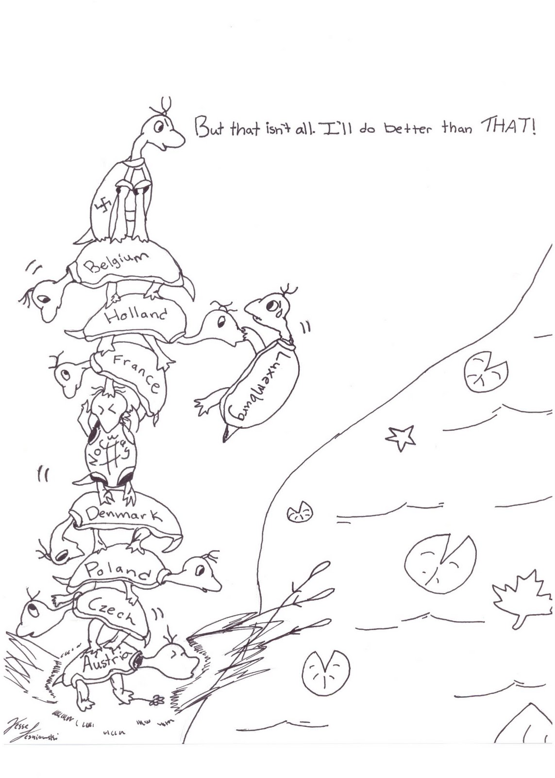 Yertle the turtle coloring page yertle the turtle for Yertle the turtle coloring page