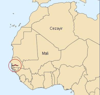 Gambiya haritalar. Afrika Gambiya neresi