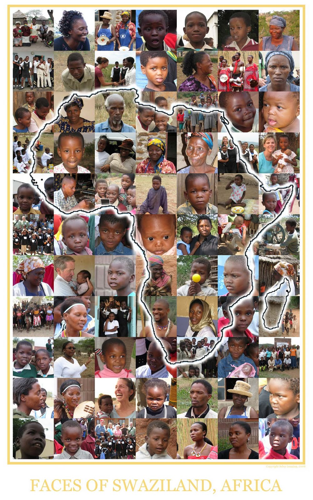 Faces of Swaziland Africa collage by Selep Imaging