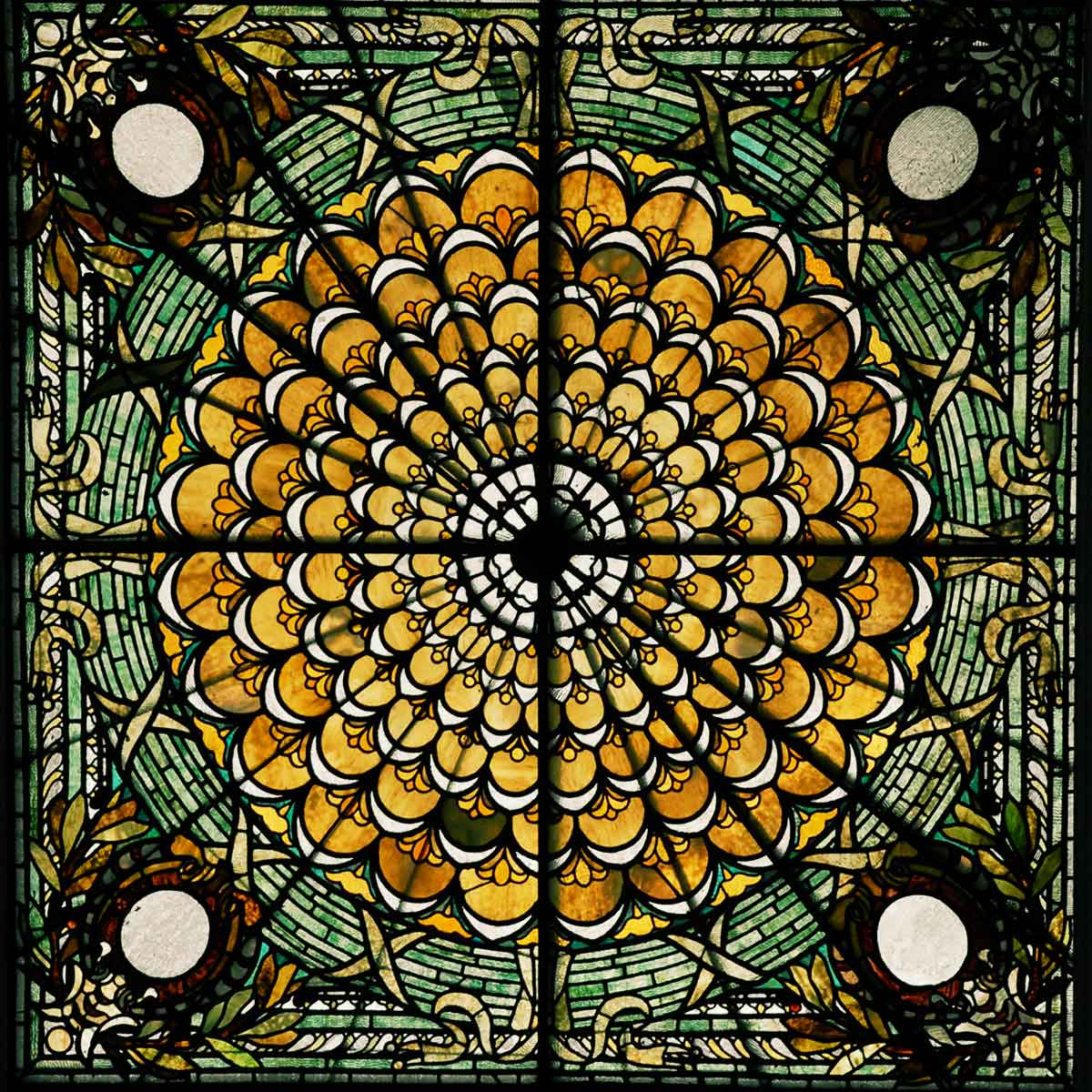 Library of Congress ceiling stained glass window