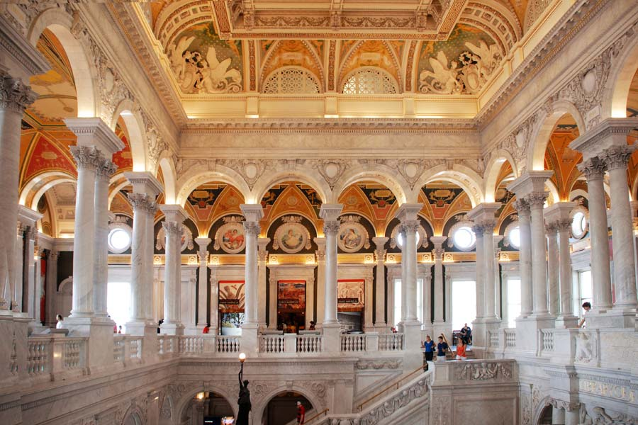 Library of Congress interior Washington DC by Selep Imaging