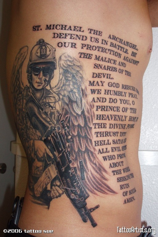 Archangel Tattoo, Military Tattoos