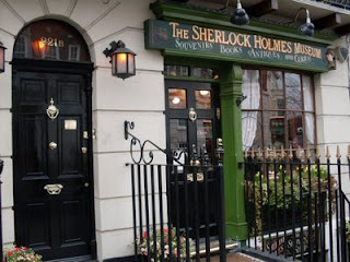 The front of the Sherlock Holmes Museum in Baker Street.
