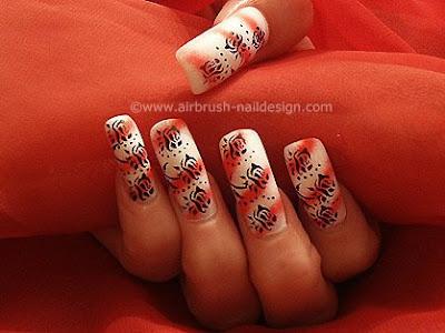 airbrush fingernagel design airbrush nailart motiv 013. Black Bedroom Furniture Sets. Home Design Ideas