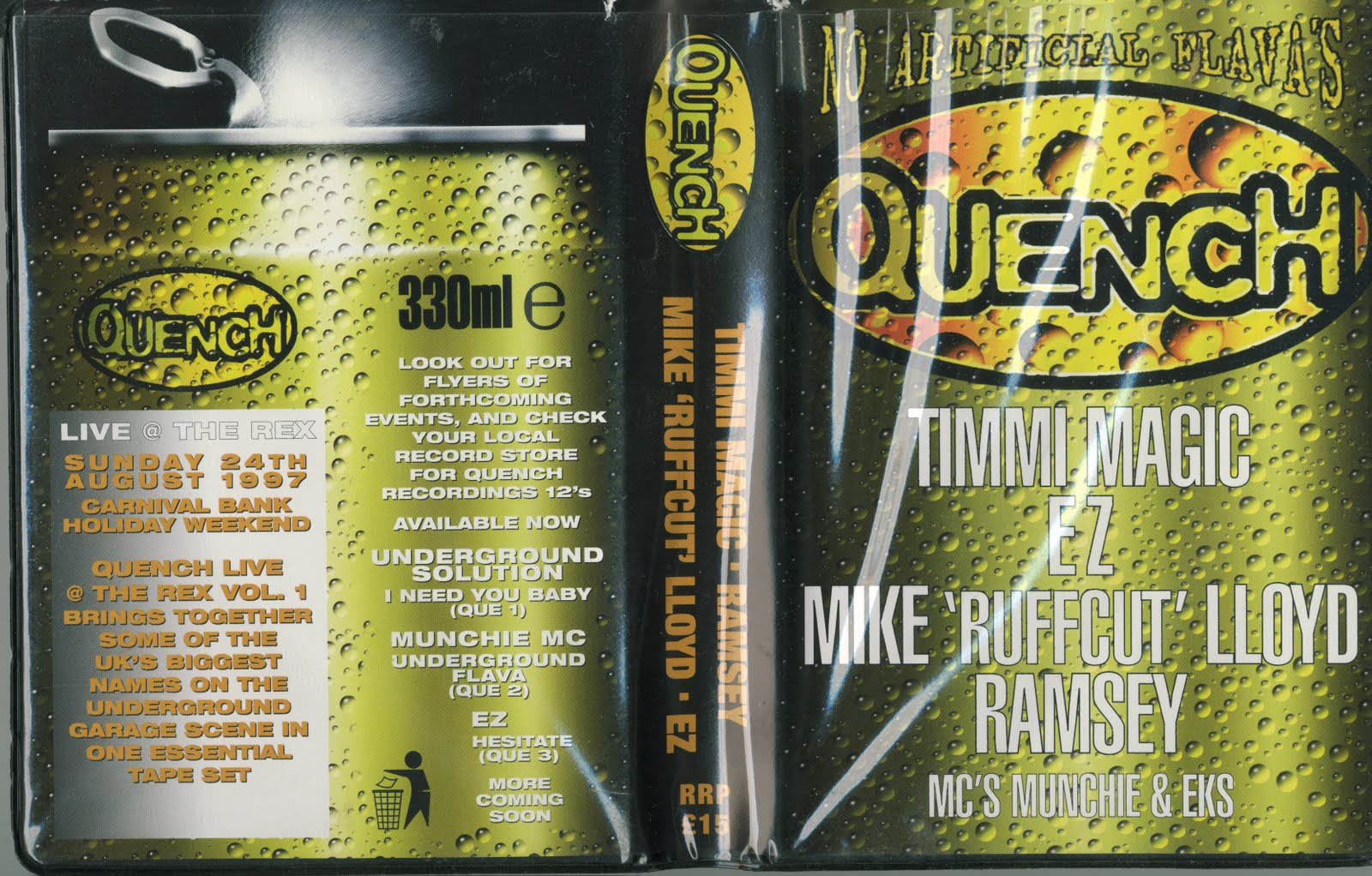 tape packs: Quence – No Artificial Flavas (UK Garage 4-Tape Pack