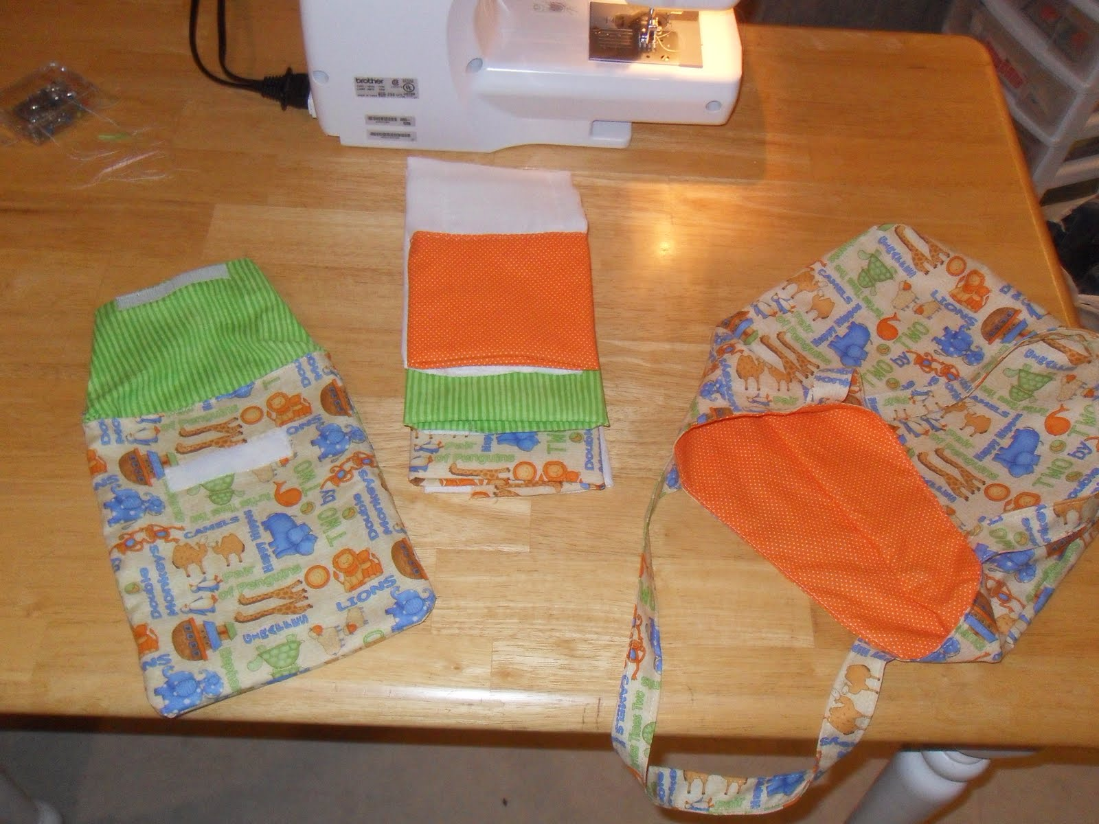Simple Joy Crafting Diaper And Wipes Case And Decorated