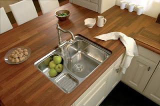 Dise o y decoraci n de cocinas encimeras por encima de - Encimeras madera cocina ...
