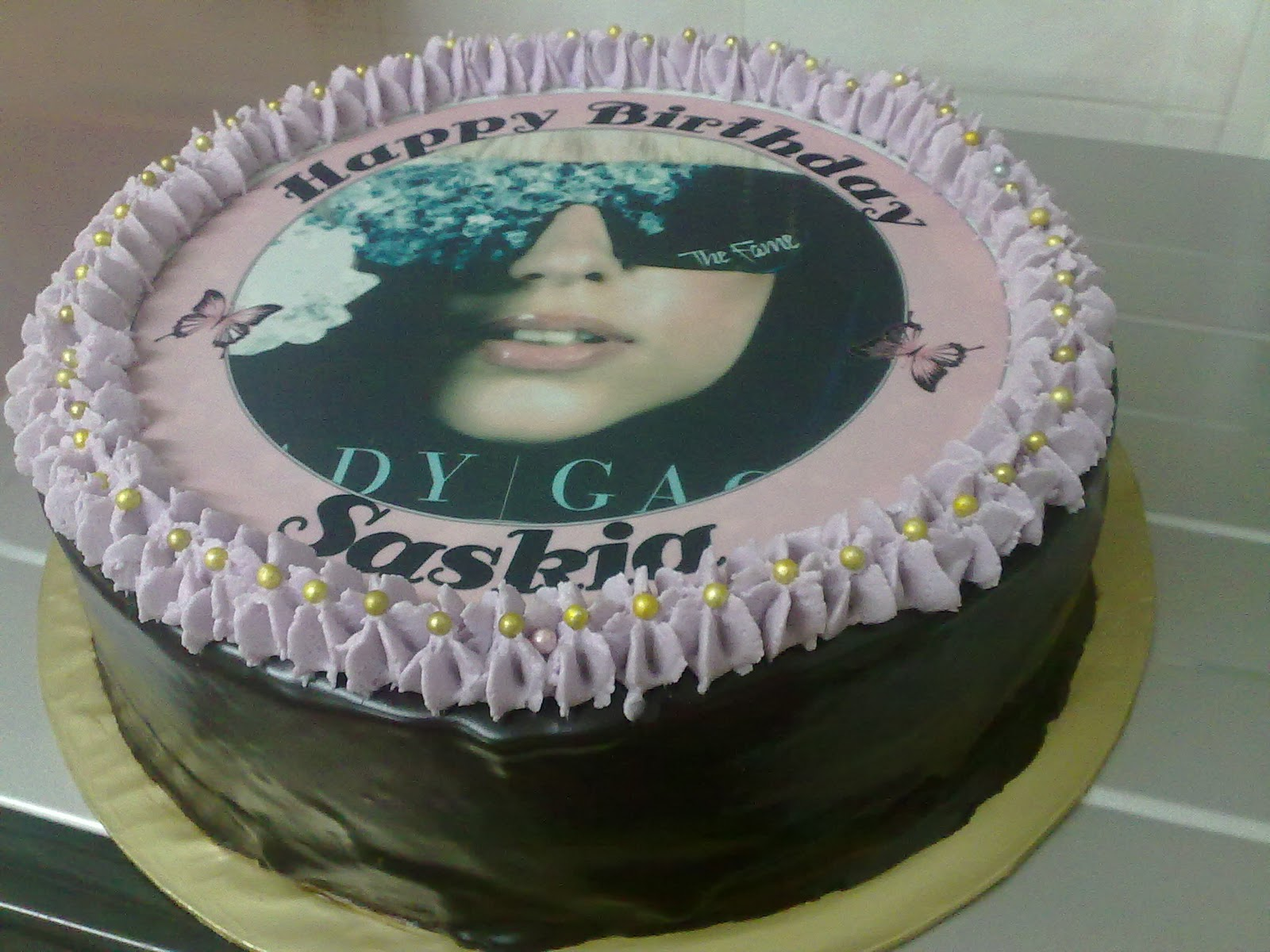 Cakes Chantek Happy Birthday Saskia Lady Gaga