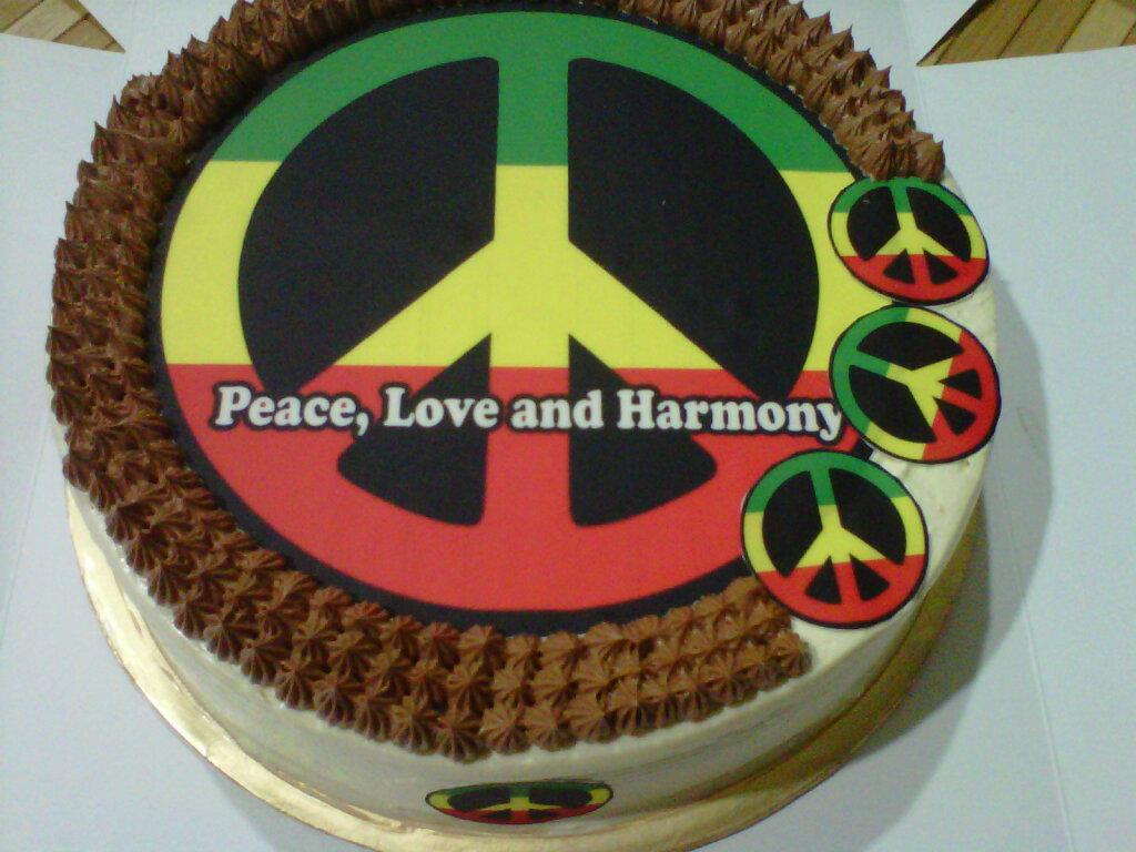 Cakes Chantek Peace Love And Harmony