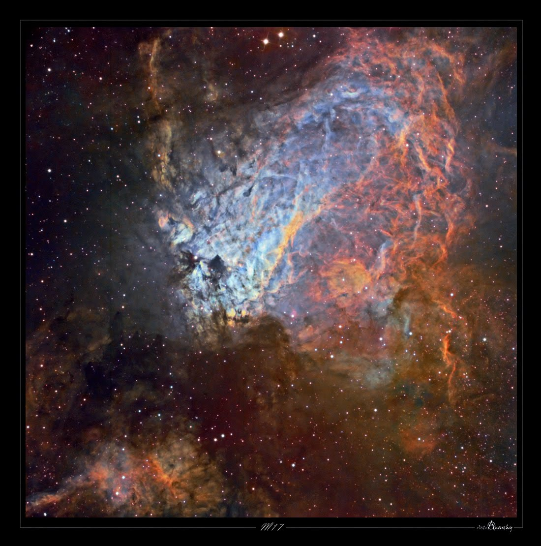 Eagle M and Omega M Nebulae