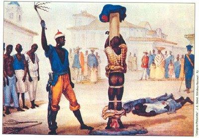 Resultado de imagem para tortura para purificar os escravos negros