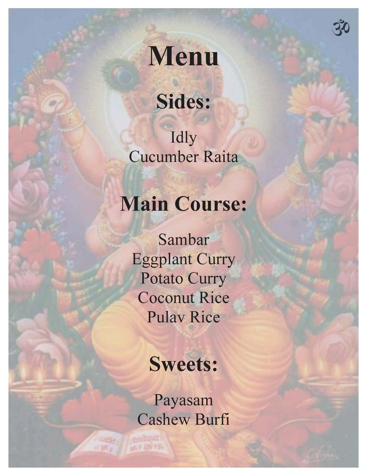 Joy Indian Food Menu