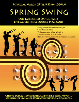 Dudley House Spring Swing 2010 poster