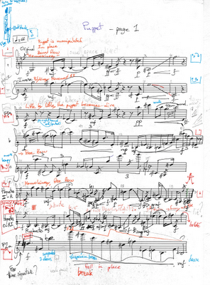 Puppet clarinet score page 1