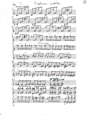 Perpetuum mobile clarinet solo page 1