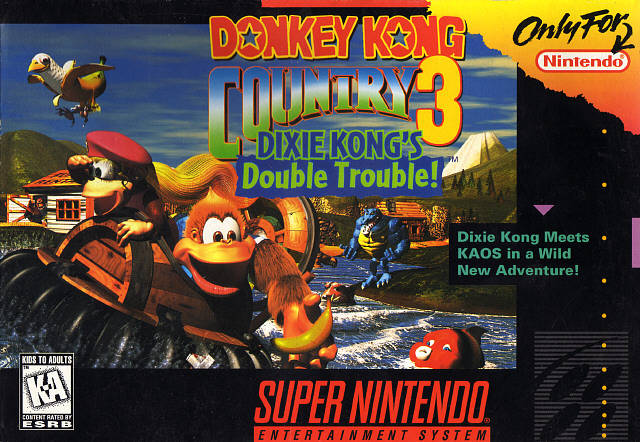 superphillip central donkey kong country 3 dixie kong 39 s double trouble snes retro review. Black Bedroom Furniture Sets. Home Design Ideas