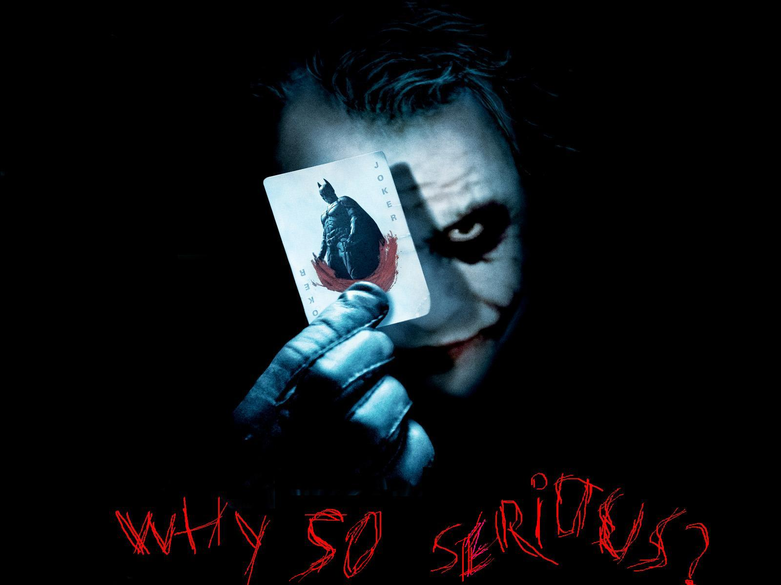 The Dark Knight 2008 Quote About Mind Loses Insane Gifs: Logo & Logo Wallpaper Collection: WHY SO SERIOUS WALLPAPER