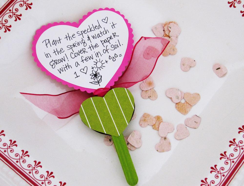 homemade seed paper valentines  positively splendid
