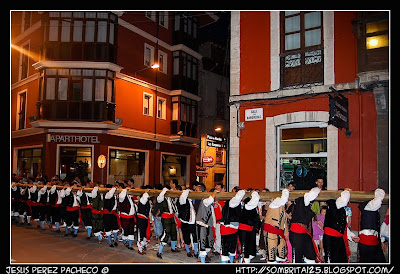 Las hogueras de las fiestas de la Magdalena en Llanes
