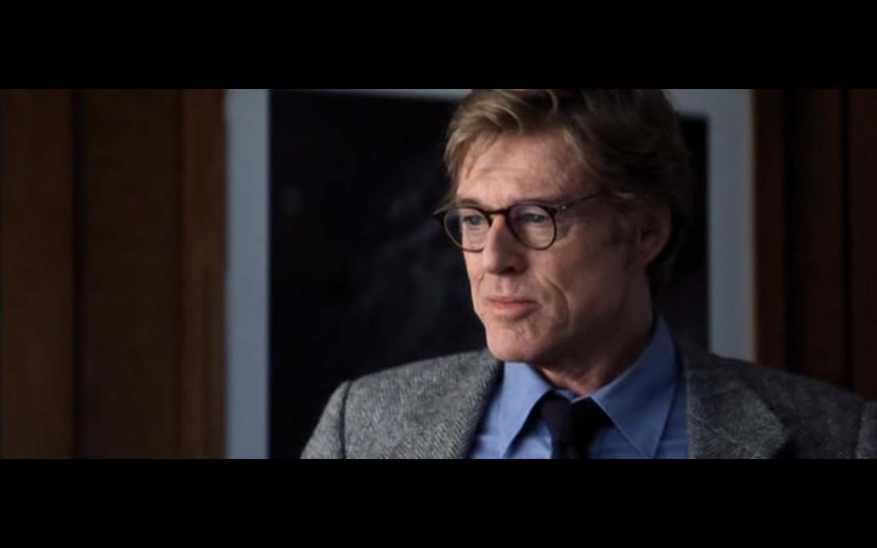 24e9f93c755 Redford's main costume, worn around Langley, has a casual and slightly  offbeat quality that clearly sets up and reflects the nature of the  character he ...