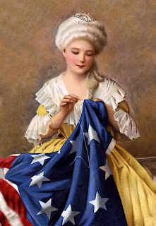 Betsy Ross cuce la bandiera americana