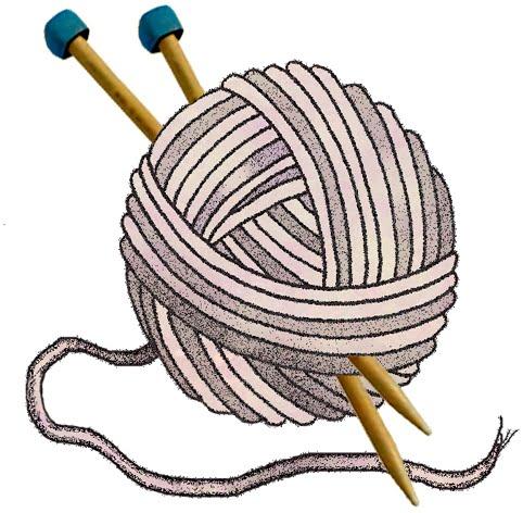 Free Craft Clip Art Graphics |Clipart Knitting Needles