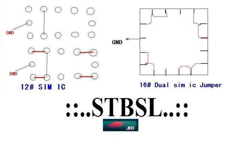 Dual Sim IC Repair. Dual Sim IC Ways and Jumper_02