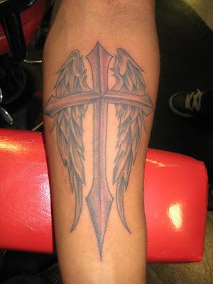 cool unique cross tattoo