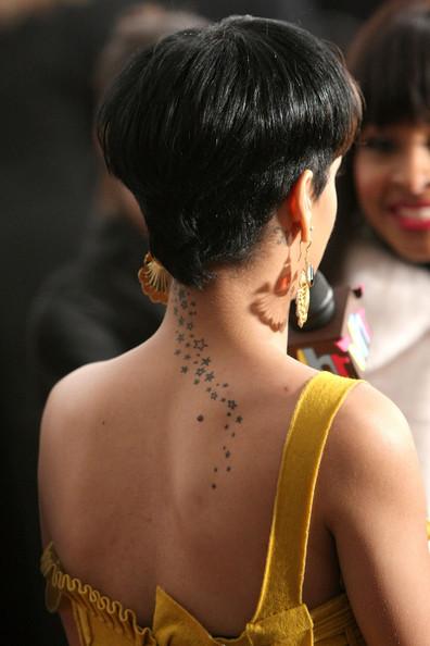 Rihanna  Star tattoos