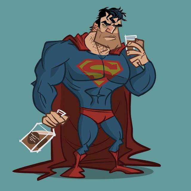 Image result for drunk superman