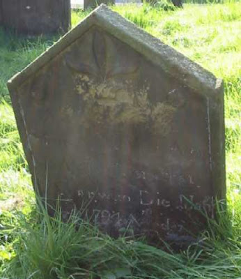 Mary Agar's headstone at Gillamoor, North Yorkshire
