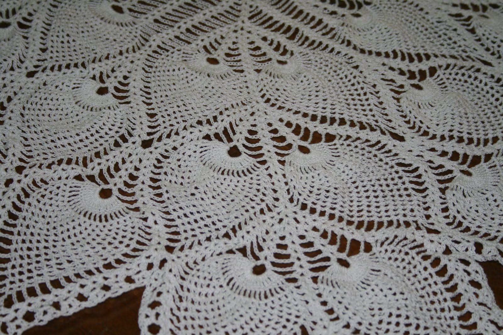 Pineapple Tablecloth Crochet Pattern Free Interesting Pineapple