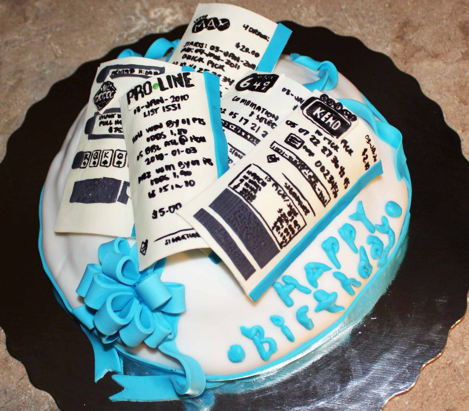Cup O Cake: Lottery Ticket Birthday Cake