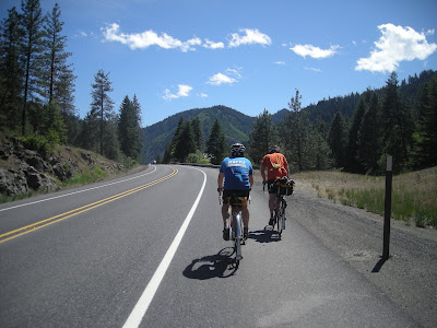 Riding up Blewett Pass