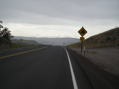 Cresting the last hill to The Dalles
