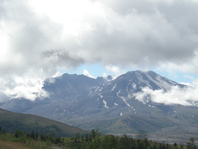 A Momentary Appearance Through the Rain Clouds by Mount St. Helens