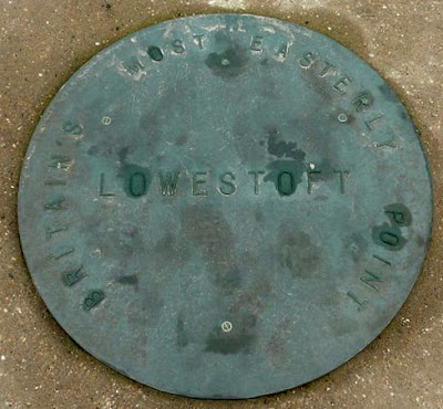 Plaque to mark the most easterly point in Britain