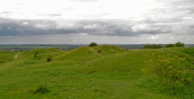 Five Knolls on top of the Dunstable Downs