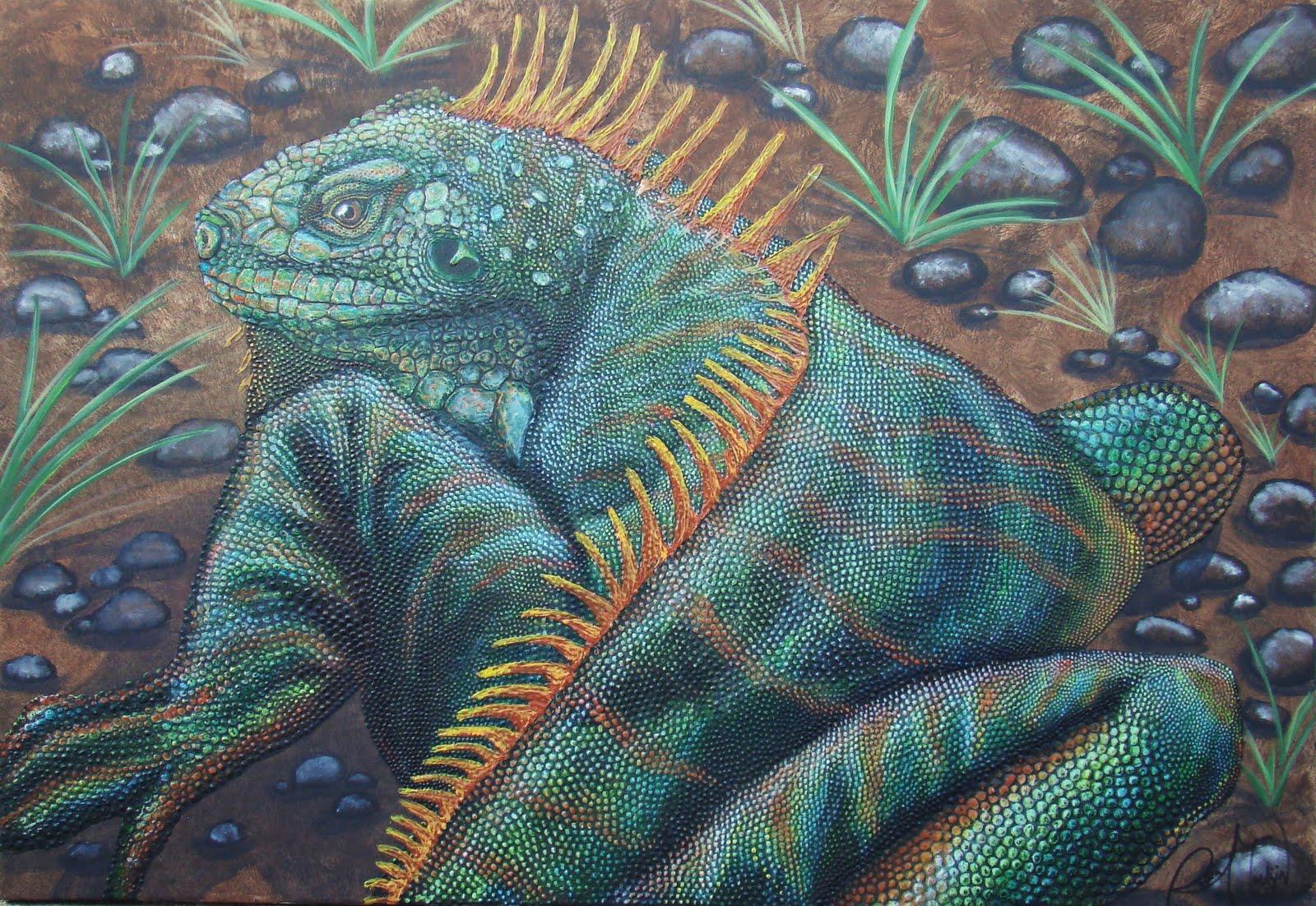 iguana eye painting - photo #5