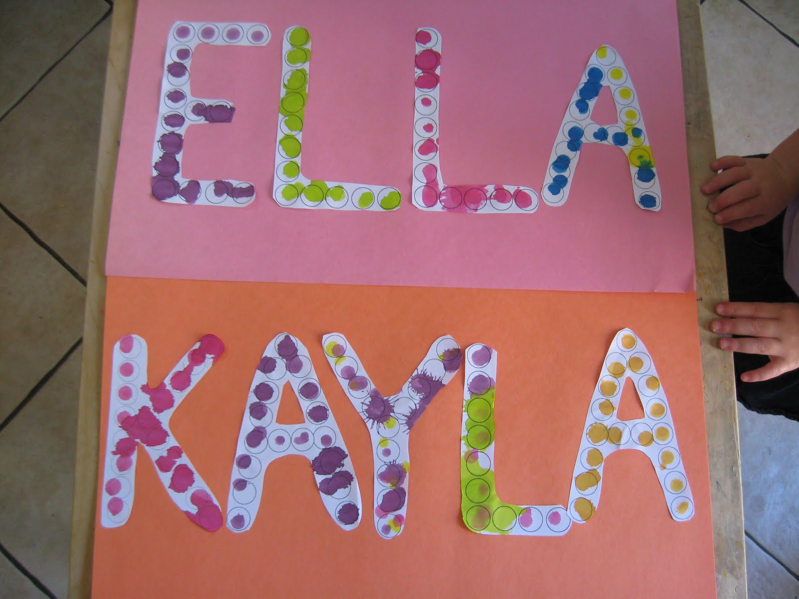 Dotted Names For Preschool