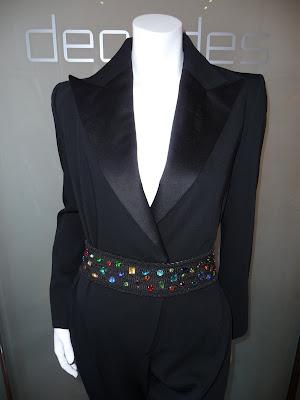 094928c93be Yves Saint Laurent Rive Gauche black le smoking jumpsuit