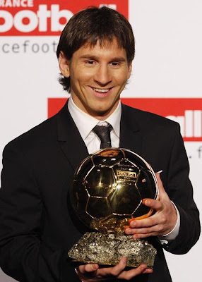 Lionel Messi with Golden Ball