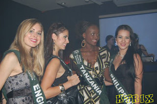 Ms Earth Candidates in Clear Black Night Halloween Dance Party